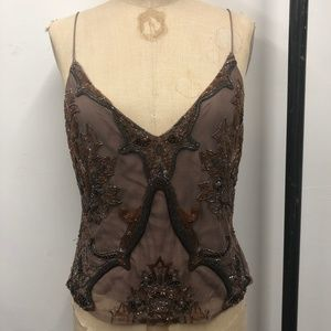 Tracy Reese glass beaded  camisole